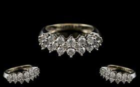 10ct White Gold - Attractive Diamond Set