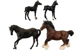 Collection of Four Beswick Horses compri