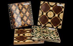 Four Pugin Style Antique Pottery Tiles,