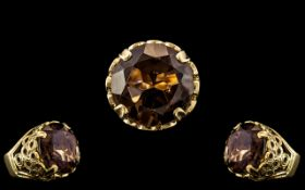 9ct Gold - Large and Impressive Single S