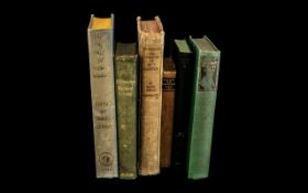 Collection of Antique Books, six in tota