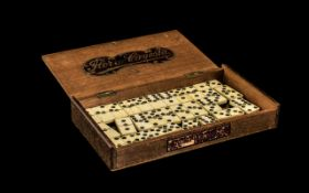 Scrimshaw: Set of Antique Ebony and Bone