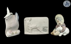 Two Lladro Plaques, one signed Lladro Co