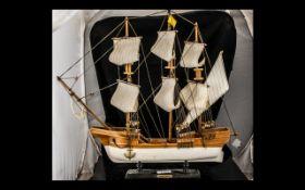 Wooden Model of Sailing Ship 'Santa Mari