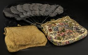 1930s Ladies Embroidered Dress Bag, with
