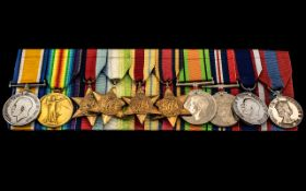 WW1 And WW2 Group Of 10 Medals To Includ