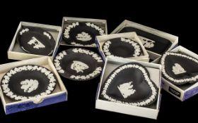 Wedgwood Black Jasper - 8 Assorted Boxed
