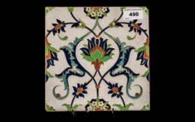 Large Minton & Hollins Isnik Pattern Til
