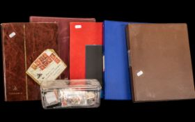 A Collection of Assorted Stamp Albums.