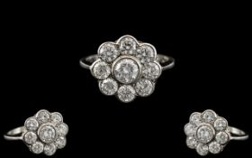 Platinum - Superb Quality Diamond Set La