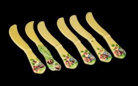 Carltonware China Fruit Knives set of si