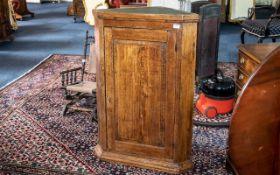 19th Century Oak Corner Cupboard, with p