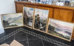 Collection of Four Paintings. all framed