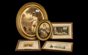 Miscellaneous Collection of Five Mounted