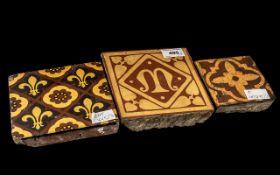 Three Antique Encaustic Tiles, c1850s/60