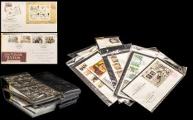 Four Stamp Cover Albums with mixed conte