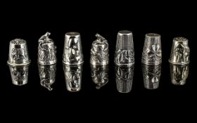 Excellent Collection of Antique and Vintage Silver Thimbles ( 7 ) In Total.