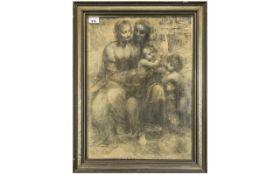 Leonardo da Vinci Print of the Madonna and Child,