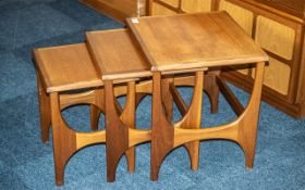 G Plan Teak Nest of Three Tables with shaped sides, of traditional form (3)