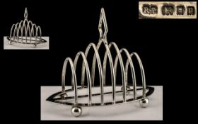 Art Deco Period Large and Impressive Six Tier Toast rack, Standing on 4 Ball Feet.