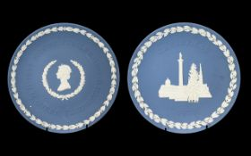 Wedgwood Blue Jasper Early Christmas Plate, second year of collection 1970, together with a blue