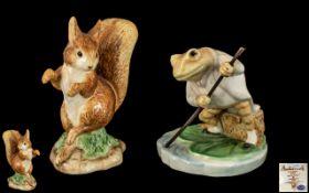 Two Vintage Beatrix Potter Figures, comprising 'Squirrel Nutkin' A2437,