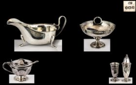 Small Silver Bon Bon Dish dated Birmingham 1917, maker ESB, 3 inches (7.5cms) high, silver sauce
