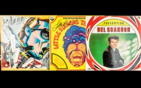 Pop Legends Autographs on Record Sleeves - Del Shannon,