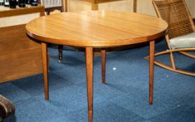 Swedish Designer Extending Teak Dining Table of extra large size,