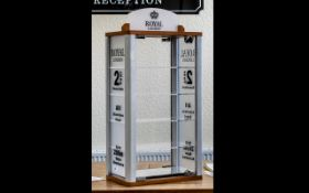 Royal London - Watch Shop Display Cabinet In Aluminum and Perspex with Lock and Keys,
