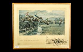 Snaffles - Charles Johnson Payne ( 1884- 1967 ) Signed Print,
