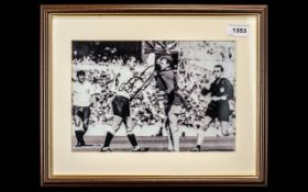Football Interest - Signed Photograph of David Mackay, framed and mounted behind glass.