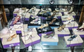 Collection of 'Just The Right Shoe' Miniature Shoes, including: Shower of Flowers, Afternoon Tea,