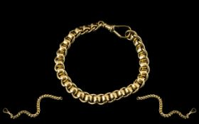 Ladies or Gents - Excellent Quality Roller Ball Bracelet. Fully Marked for 9.