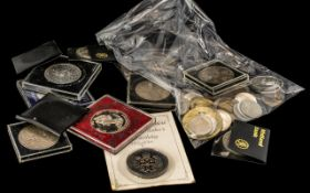 Collection of Thirteen Modern British Crowns, dated 1953, 1977, 1980, 1981, 1990, 1965,