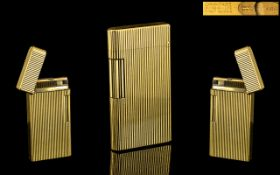 Caran D'Ache - Swiss Made Top of the Range Gold Plated Slim line Lighter, Deluxe Version. No C0790.