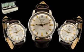 Longines Conquest ' Heritage ' Gentleman's Stainless Steel Automatic Calendar Wrist Watch.