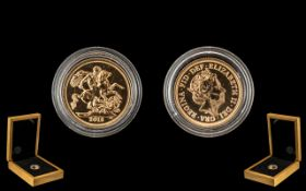A 2018 Full Sovereign in Fitted Case.