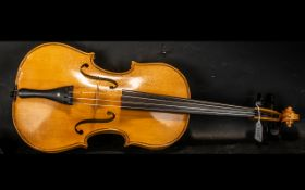 """20th Century Viola, two piece back, 15.75"""". Overall length 26.5""""."""