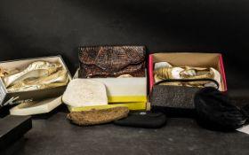 Collection of Vintage Ladies Footwear & Handbags,