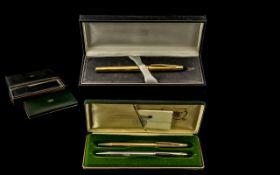 Cross - Modern Slim line / Elegant 12ct Gold Filled Cased Ballpoint Pen with Display Box.