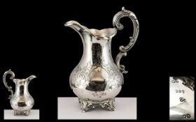 Victorian Period - Superb Quality Sterling Silver Oversize Milk Jug of Excellent Proportions,
