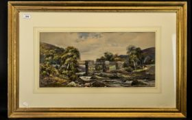 Charles Rowbotham Signed Watercolour Drawing, titled 'Pont-y-Pant, North Wales',