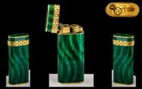 Cartier - Paris Ladies Deluxe Gold Plated Lighter. No A33092. c.1989 - 1990.