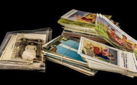 Collection of Vintage Postcards, including McGill humour, seaside scenes, animals, travel,