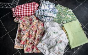Collection of Laura Ashley/Sanderson Curtains, five pairs in total,