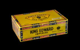 King Edward VII Imperial Box of 50 Quality Cigars In a Sealed Box, Still In Wrappers / Unopened.