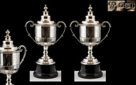 Doncaster Golf Club - Pair of Sterling Silver Winners Challenge Cups for 1925 & 1926. Awarded to H.
