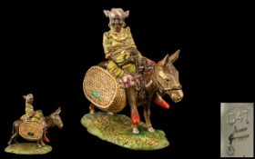 Beswick 'Susie Jamaica' Figure of a lady on a donkey, Beswick No. 1347. This has the rare gold