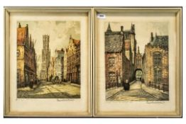A Pair of Dutch Signed Coloured Prints, Limited Edition, both signed.